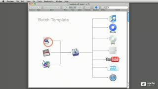 19. Setting a Template from FCP