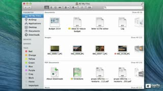 "16. ""All My Files"" in The Sidebar"