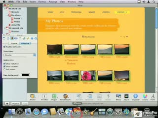 29. Inserting a MobileMe Photo Gallery (from iPhoto)