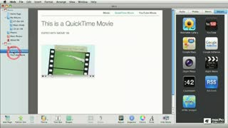31. Adding a MobileMe Movie