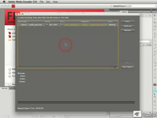 135. Selecting an Encoding Preset in Adobe Media Encoder CS4