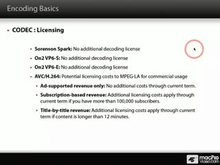 23. Licensing Implications of Video Codecs
