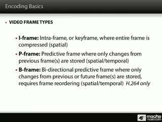 28. Video Frame Types: I, P and B Frames