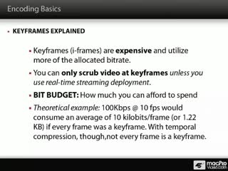 29. Keyframes and Bit Budgets