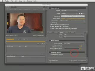 75. Video Tab: Key Frame Distance Setting