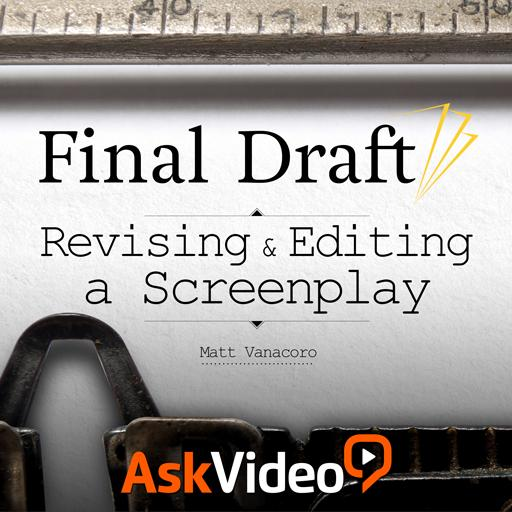 revising and editing a screenplay tutorial online course final