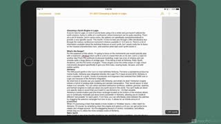 19. iCloud, iOS, and Syncing Documents