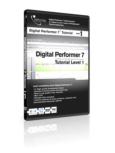 Digital Performer 7 501 - Working with Digital Performer 7 - Level 1