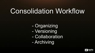 13. Consolidating Libraries & Events