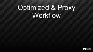 14. Optimized & Proxy Workflow