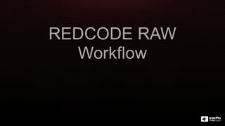15. REDCODE RAW Workflow