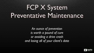 29. System Maintenance