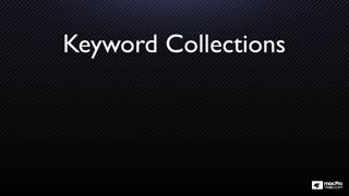 8. Keywords Collections