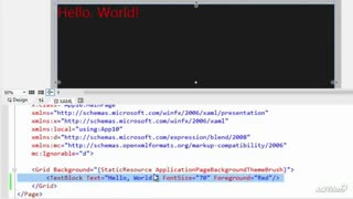 2. Placing Elements Using XAML - A Rectangle