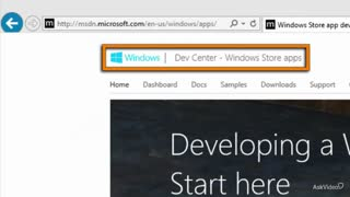 2. The Windows Store Developer Center
