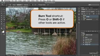 10. Darkening Details with the Burn Tool