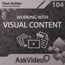 Flash Builder 104 Working with Visual Content  Product Image