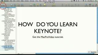 13. Maximize/Minimize the Keynote Window
