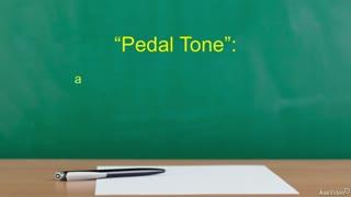 39. Pedal Tones