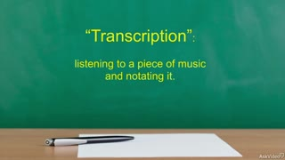 30. The Importance of Transcription