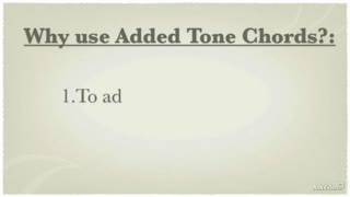 16. Added Tone Chords to Accompany Melody