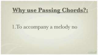 20. Passing Chords in a Progression - Part 2