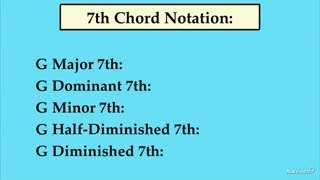 14. The Various Types of 7th Chord