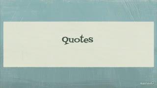 20. Quotes