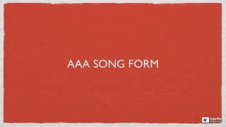 2. AAA Song Form