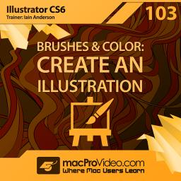 Illustrator CS6 103 Brushes and Color: Create An Illustration Product Image