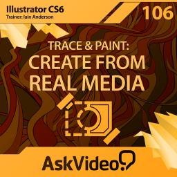 Illustrator CS6 106 Trace and Paint: Create From Real Media Product Image