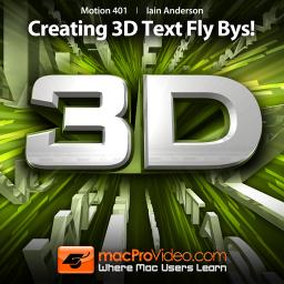 Motion 5 401 Creating 3D Text Fly Bys! Product Image