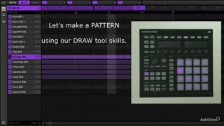 9. Create Pattern, Use Draw Tool