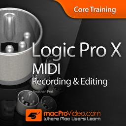Logic Pro X 104 Core Training: MIDI Recording and Editing Product Image