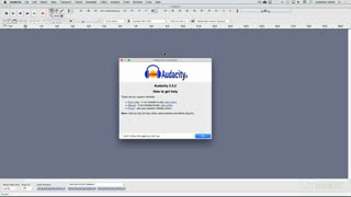 5. Setting up Audacity