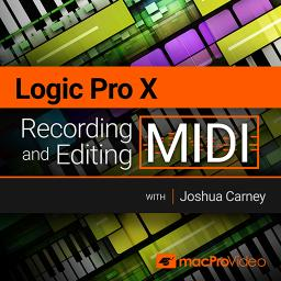 Logic Pro X 103 Recording and Editing MIDI Product Image