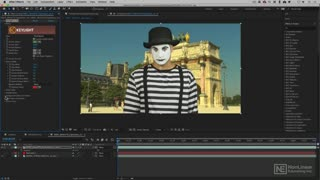 17. Color Correcting your final Key