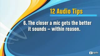 17. Recording Technique Tips