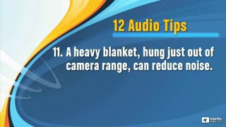 19. Other Audio Recording Tips