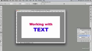 Photoshop CS6 106: Text Tool Techniques and Workflows - Preview Video