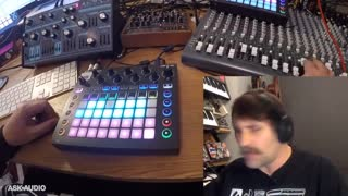 2. Novation Circuit Overview - Session Page, Drum Sequencing