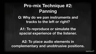 21. Panning for Other Instrumentation
