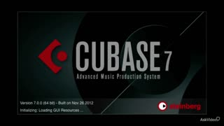 1. Welcome to Cubase 7