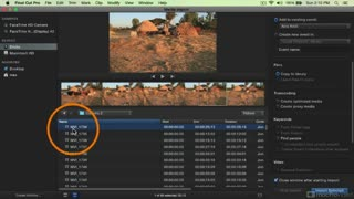 Final Cut Pro X 101: Core Training:  Clips: Import and Organize - Preview Video