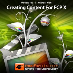 Motion 5 108 Creating Content For Final Cut Pro X Product Image