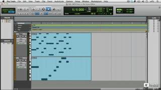 38. Editing MIDI in the Score Editor Window