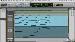 42. Quantizing in the MIDI Editor window