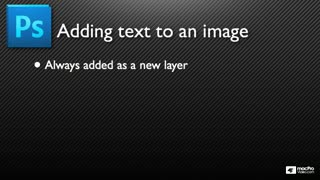 Photoshop CS5 103: Adding Text To Images - Preview Video