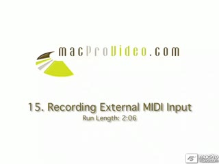 15. Recording External MIDI