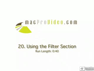 20. Using The Filter Section